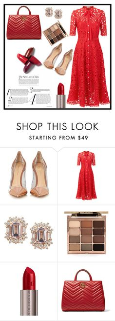 """your lips are red."" by rostovskaya-regina on Polyvore featuring мода, Gianvito Rossi, Temperley London, Stila, Urban Decay и Gucci"