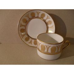 Richard Ginori Ercolano Gold Flat Teacup and Saucer Gold Flats, Gold Pattern, Tea Cup Saucer, Teacup, Coffee Cups, Pottery, Tableware, Classy, Mugs
