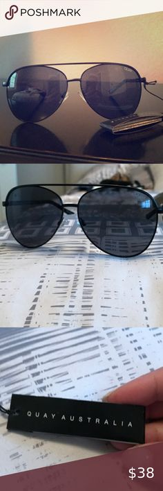 Quay Australia Sunglasses Women's LAST DANCE Black//Mint NWT incl Soft Case