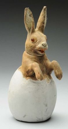 German Rabbit in Egg Candy Container. : Lot 1247