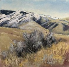 Boise Foothills January daily Plein air challenge Abstract Art, January, Challenge, Mountains, Nature, Travel, Painting, Naturaleza, Viajes