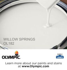 WILLOW SPRINGS OL182 is a part of the off-whites collection by Olympic® Paint.
