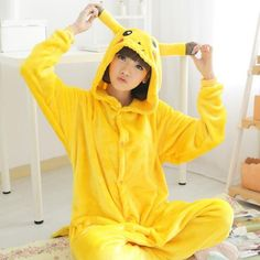 A must have for Pokémon and Pikachu fans, the Pikachu onesie! Pika, Pika, Pika Chu! This easy to wear, soft and comfortable onesie will make you an adorable Pikachu as soon as you wear it. Not only it