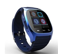 Corelink Bluetooth LCD Touch Screen Smart Watch Phone Smartwatch Wearable with Pedometer Monitoring Calories Track Steps Counter for iPhone, Android smartphone (Blue-M26) ** You can get additional details at the image link.