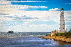 Olenivka, Ukraine #olenivka #ukraine Lighthouse, Ukraine, Explore, Water, Outdoor, Bell Rock Lighthouse, Gripe Water, Outdoors, Light House
