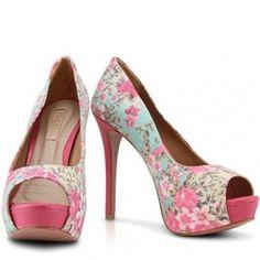 floral peep toe