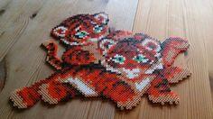 Tigers hama perler beads by Susanne Damgård Sørensen