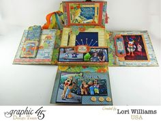Graphic 45 Mini Book_World's Fair collection_ designed by Lori Williams