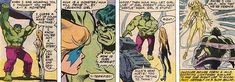 Dazzler calms the Hulk with her powers