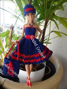 #Doll #Crochet #Vestido #Dress #Vestido #Muñeca #Barbie #RaquelGaucha