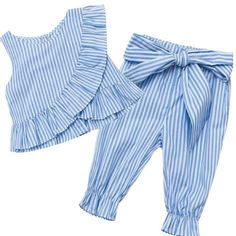 Last few sizes left in the pinstriped set available in ages 2 only 99 order now @ www tullulahbelles london checkout with to receive off all orders over 00 until monday at midnight Baby Outfits, Kids Outfits, Toddler Dress, Toddler Girl, Baby Girl Fashion, Kids Fashion, Baby Dress Design, Dresses Kids Girl, Baby Sewing