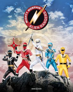 8+x+10+glossy+print+of+the+legendary+Mighty+Morphin'+Alien+Rangers.