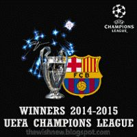 DP BBM Animasi Terbaru Versi Photoshop : FC Barcelona 2015