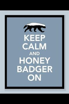 If I was in Westeros, my house sigil would be a honey badger.