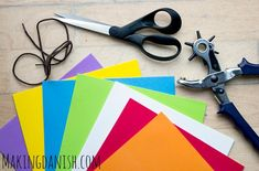 Homemade lacing cards