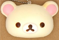 kawaii Korilakkuma white bear squishy cellphone charm