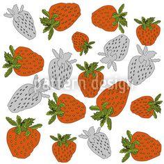 Strawberries Red designed by Birgit Schlegel available on patterndesigns.com Vektor Muster, Plant Vector, Strawberry Plants, Red Design, Vector Pattern, Vector File, Surface Design, Bunt, Illustration