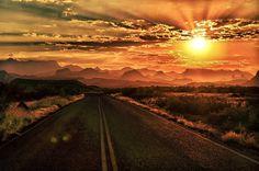 Chisos Sunrise ~ BBNP, TX ~ by Jim Mangum