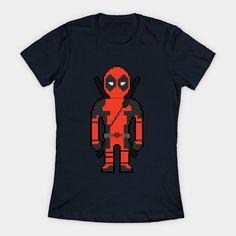 8-bit Deadpool Womens T-Shirt