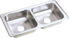 "Dayton 33"" x 17"" Top Mount Double Kitchen Sink"