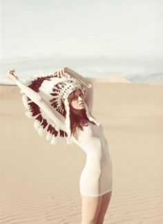 okay so i know the whole native american fad is offensive, and i get that, but theres something about a headdress...