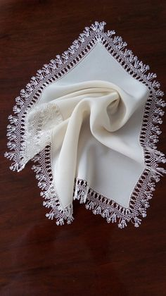 This Pin was discovered by Ays Couture, Embroidery Stitches, Lace Trim, Needlework, Diy And Crafts, Napkins, Tableware, Decor, Girly Girl