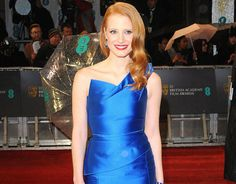 Jessica Chastain does Hollywood glamour for the Bafta Film Awards 2013