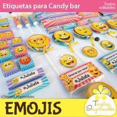 Emojis nena Etiquetas para candy bar