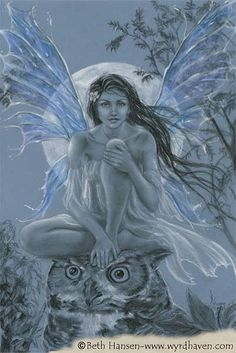 Blue Moon Faery - by Beth Hansen-Buth | Featured Artist on the Fantasy Gallery