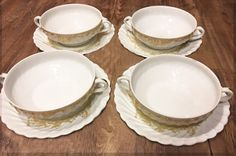 Haviland Flat Cream Soup Bowl and Saucer Set by LoveCareHandmade