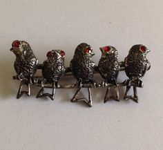 VINTAGE sterling DANECRAFT BIRD PIN