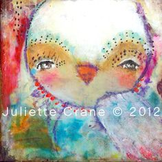 Whimsical Owl Art 8x8 inch Print of a by juliettecrane on Etsy, $25.00