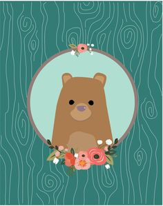 Bear Art Print by MiniMoons. Not copying, just for inspiration!