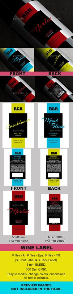 Champagne Label Vector Template Print templates, Template and - label design templates