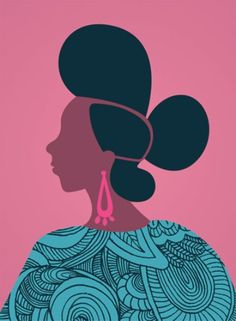 """Andrea Pippins prints. From Jeanine Hays @ AprhoChic: """"The collection of prints is a vibrant celebration of hair, and African and African-American culture. Each image is inspired by West African barber shop signs."""""""
