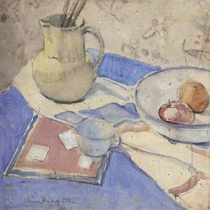 Anne Redpath, Still life with jug and plate