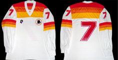 maglia pouchain roma As Roma, Football Jerseys, Kit, Sports, T Shirt, Vintage, Tops, Fashion, Football Shirts