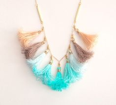 Tassel Necklace at Etsy Shop ayofemijewelry