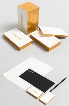 Minimalist Design Gold Edge Painted Business Card
