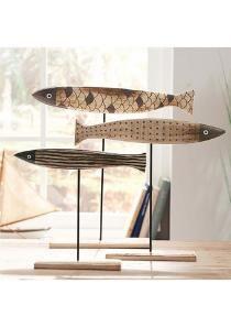 Freshly fished: These dr - Wood Decora la Maison Fish Wall Art, Fish Art, Wood Fish, Fish Sculpture, Fish Crafts, Cat Art Print, Driftwood Crafts, Home Gadgets, Outdoor Art
