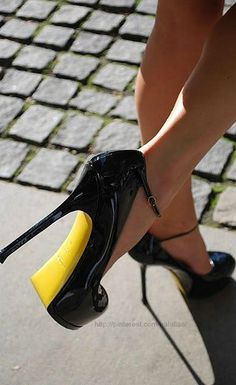 Black high heel ankle strap shoes - GORGEOUS!!!  Style - essential details