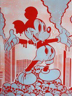 Mickey Mouse Street Art, Hiroshima Mickey, Japan, 2010.