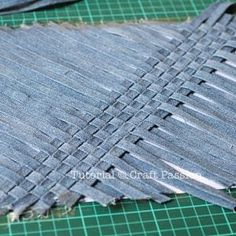 Weaving might make whatever project look less like jeans.