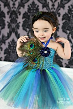 Thankspeacock flower girl?  baby girls peacock tutu dress any size with by cutiepiegoodies, $39.00 awesome pin