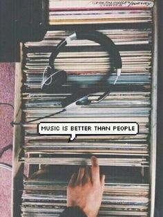 music is better than people