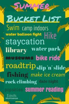 Celebrate Summer! A summer bucket list & healthy essentials - Eclectic Momsense