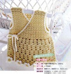 Delicadezas en crochet Gabriela: Chaleco de bebé