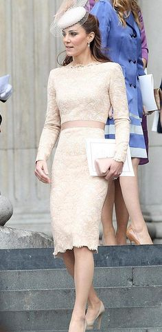 GoS: Kate Middleton - Alexander McQueen Lace Dress St Pauls Catherdral