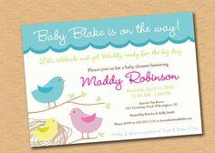 Sweet Tweet - Baby Birds Shower Invitation