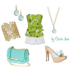 Hydrangea, created by cjcarriejean on Polyvore featuring the Stella & Dot - Chantilly Lace Cuff